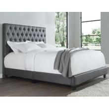 Sophia Queen Bed, Steel