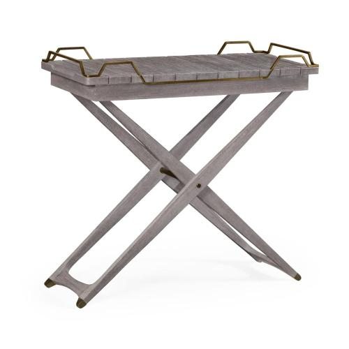 Folding Outdoor Tray Console Table
