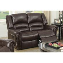 Otylia Reclining/Motion Loveseat Sofa or Recliner, Brown Bonded Leather
