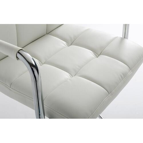 Modrest Lana White Eco-Leather Contemporary Barstool