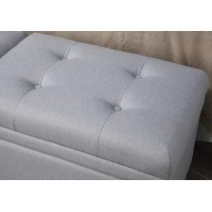 Storage Upholstered Bed Bench in Gray