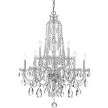See Details - Traditional Crystal 10 Light Clear Swarovski Strass Crystal Chrome Chandelier