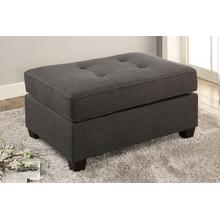 Deidara Cocktail Ottoman, Ash-black-dorris-fabric