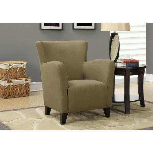 Gallery - ACCENT CHAIR - BROWN LINEN FABRIC