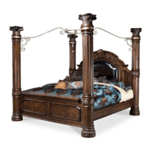 Eastern King Poster Bed w/ Canopy