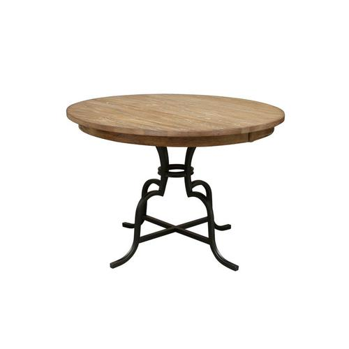 """Gallery - 54"""" Round Counter Height Table With Metal Base"""