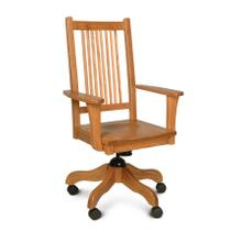 Prairie Mission Arm Desk Chair, Leather Cushion Seat