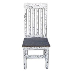 White Scraped Santa Rita Chair