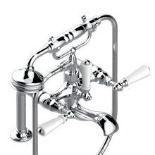 View Product - Exposed tub filler with cradle handshower, deck mounted