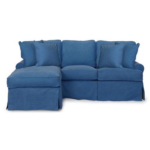 Horizon Slipcovered Sleeper Sofa and Chaise - Color: 410046
