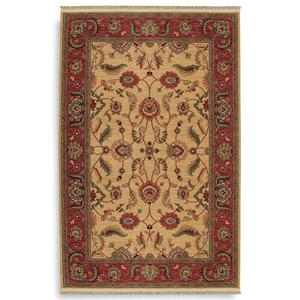 Agra Ivory Rectangle 5ft 9in X 9ft