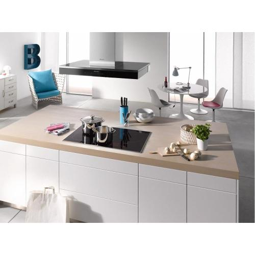 Miele - DA 6690 D Puristic Edition 6000 AM Island décor hood with energy-efficient LED lighting and touch controls for simple operation.