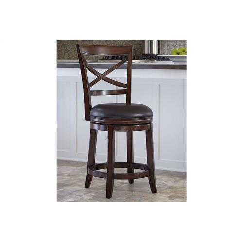 Porter UPH Swivel Barstool Rustic Brown