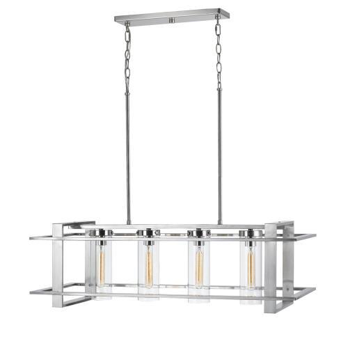 60W X 4 Brittonmetal /Glass Island Chandelier (Edison Bulbs Not Included)