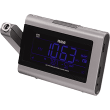 Time projection clock radio with outdoor weather sensor