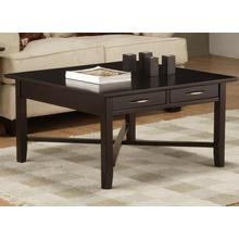 Demilune Square Coffee Table With 2 Drawers