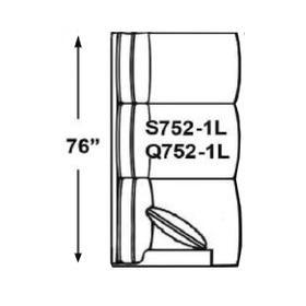 Sectional Component-One Arm Sofa, Available in Grey Wash, Cottage White, Royal Oak, Black Teak, White Teak, Vintage Smoke, Hampton Grey Finish.