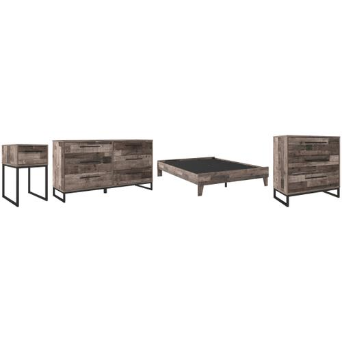 Gallery - Queen Platform Bed With Dresser, Chest and Nightstand