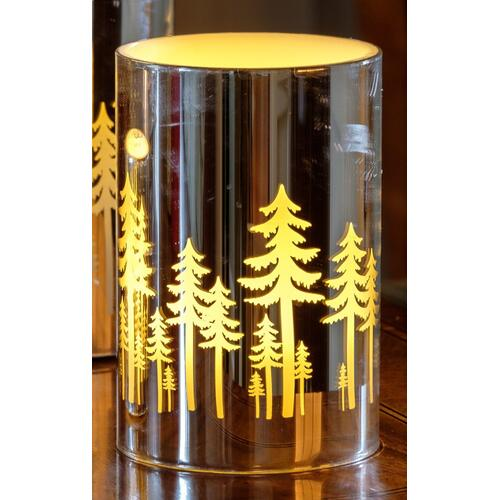 """6"""" Silver Grove LED Candle"""