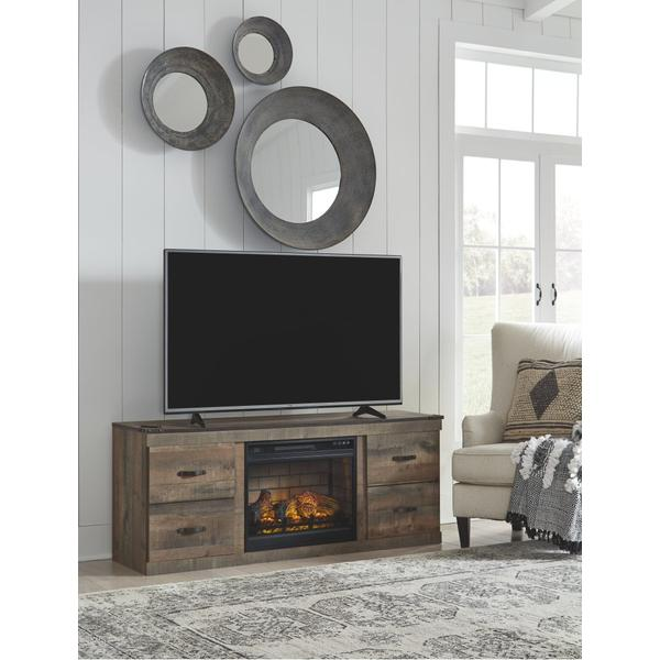 """Trinell 63"""" TV Stand With Electric Fireplace"""