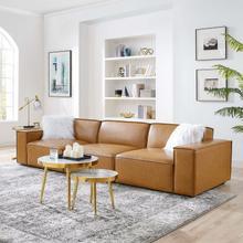 Restore Vegan Leather 3-Piece Sofa in Tan