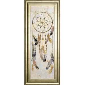"""Tribal Dreamcatcher"" By Nan American Indian Mirrored Framed Print Wall Art"