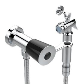Handheld spray bidet with hose, elbow and hook