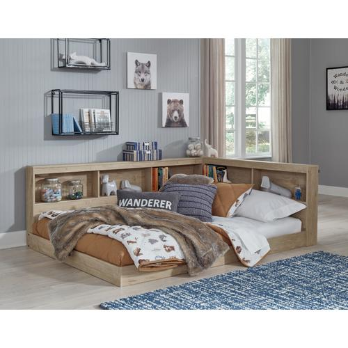 Full Bookcase Storage Bed With Dresser, Chest and 2 Nightstands