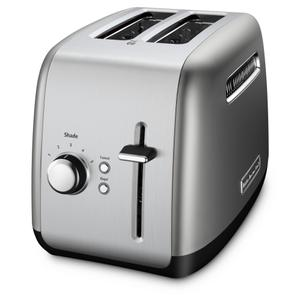 2-Slice Toaster with manual lift lever - Contour Silver - CONTOUR SILVER