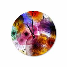 Colorful Mexican Bowls Round Acrylic Wall Clock