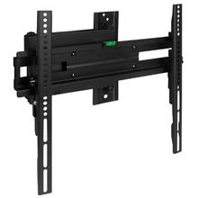 """See Details - FLASH MOUNT Full Motion TV Wall Mount - Built-In Level - Max VESA Size 400 x 400mm - Fits most TV's 32"""" - 55"""" (Weight Cap 55LB)"""