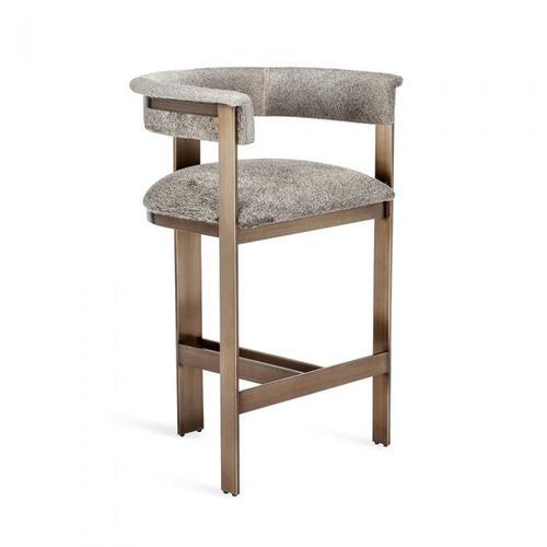 Darcy Hide Counter Stool - Bronze