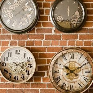Yosemite Home Decor - Gilded Round Gear Clock