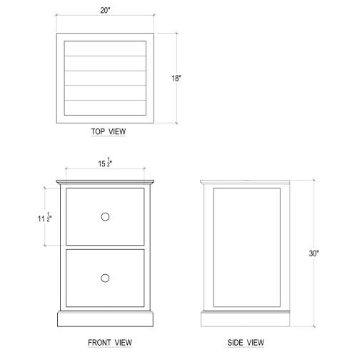 Emerson 2 Drawer Filing Cabinet