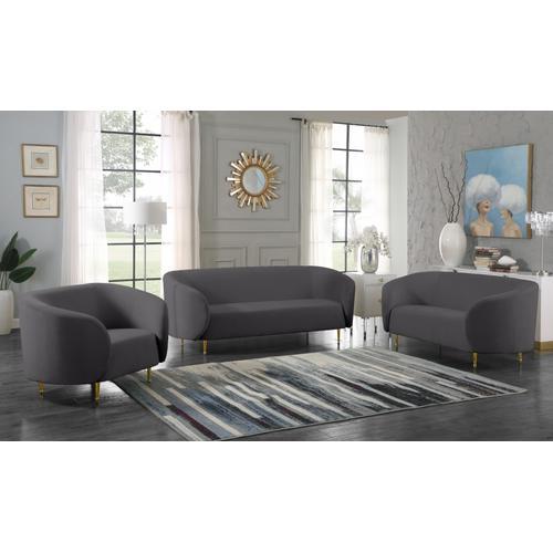 "Lavilla Velvet Chair - 47"" W x 35.5"" D x 33"" H"