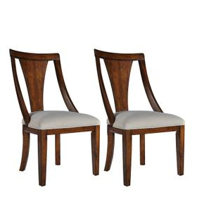 Insignia 2-Pack Side Chairs with Upholstered Seat, Brown