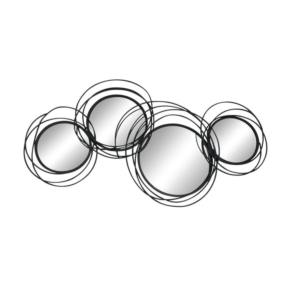 Looped Black 4 Circle Mirrors, Wb