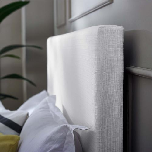 Taylor Full / Queen Upholstered Linen Fabric Headboard in White
