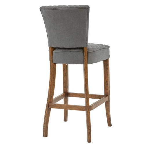 Quilted Barstool - Gray