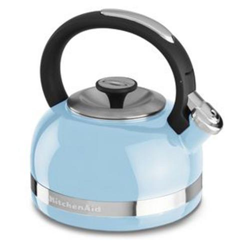 KitchenAid - 2.0-Quart Kettle with Full Handle and Trim Band - Cameo Blue