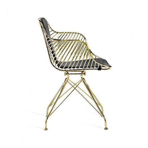 Draper Dining Chair - Brass
