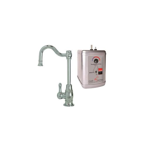 Mountain Plumbing - Hot Water Faucet with Traditional Double Curved Body & Curved Handle & Little Gourmet® Premium Hot Water Tank - Oil Rubbed Bronze