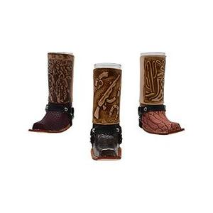 L.M.T. Rustic and Western Imports - Bandito Display Box W/24 Assorted Shot Glass Boots