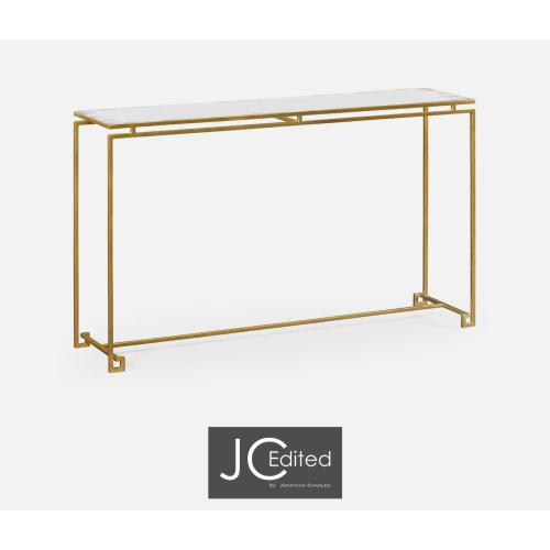 Gilded iron large console table