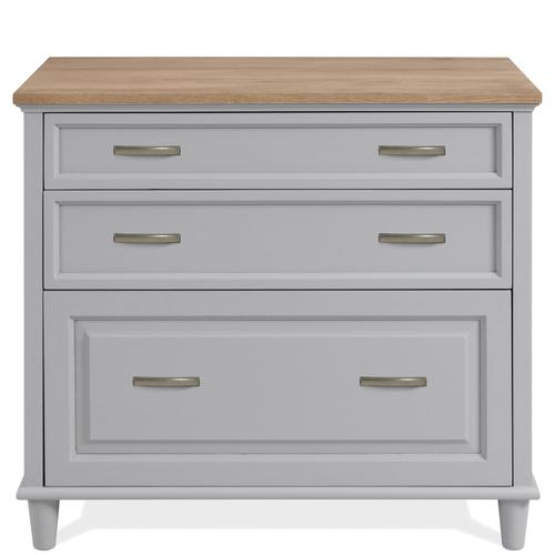 Osborne - Lateral File Cabinet - Timeless Oak/gray Skies Finish