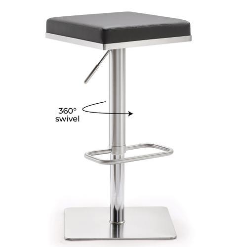 Tov Furniture - Bari Grey Stainless Steel Barstool