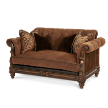 See Details - Leather/Fabric Loveseat - Opt1
