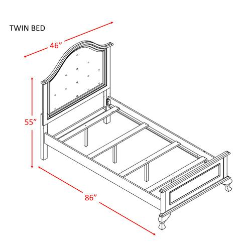 Jesse Twin Panel Bed White