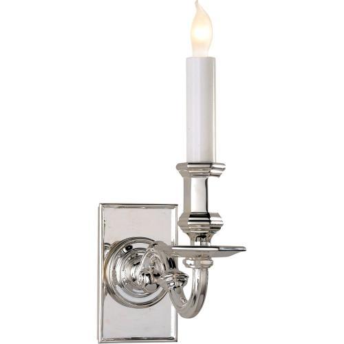 Visual Comfort CHD1175PS E. F. Chapman Library 1 Light 4 inch Polished Silver Decorative Wall Light