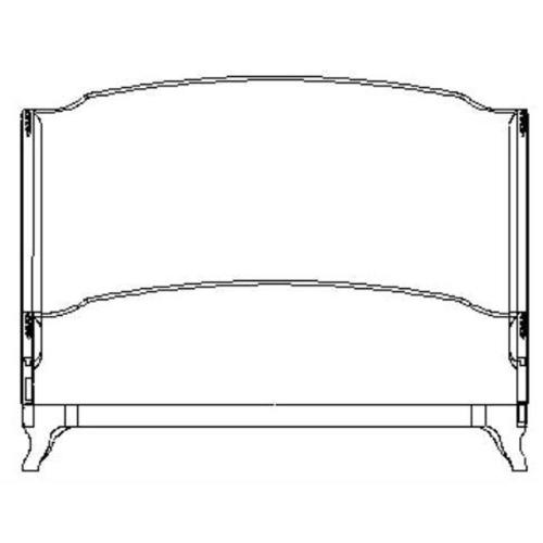 US Cali King Louis XV bed (Limed tulip wood/Silk muscatelle)